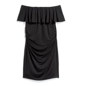 Lux & Co. Alysha maternity on/off shoulder dress